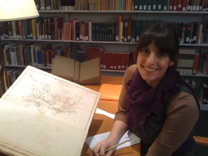 Rubin Museum curatorial assistant Tracey Friedman researches medieval cosmology at Smithsonian Library.