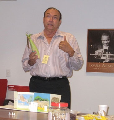 Juan explains an exhibition concept during the Developing Exhibitions workshop in Washington, DC, June 2009