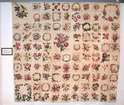 Proudfoot Memento Mori/Signature Quilt Top, 1847-1856