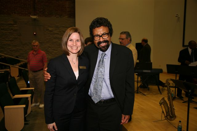 Durham Museum's Executive Director Christi Jannsen with SJMO's Artistic and Musical Director David Baker
