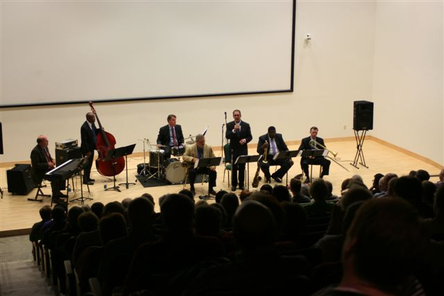 Smithsonian Jazz Masterworks Orchestra performing at the Durham Museum.