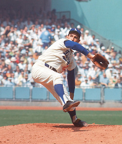Dodgers pitcher Sandy Koufax during the 1966 World Series
