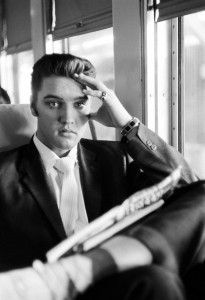 Elvis on the Southern Railroad between Chattanooga and Memphis, Tenn. July 4, 1956. © Alfred Wertheimer.