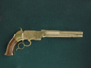 Patent model, Smith & Wesson Magazine Lever Action Pistol. AF*251055. Image provided by Buffalo Bill Center of the West.