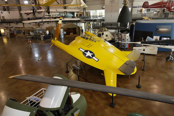 "Vought V-173 ""Flying Pancake"" at Frontiers of Flight Museum"