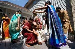 A celebration of Hindu marriage vows renewal. Photo: Preston Merchant.