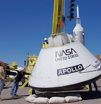 Apollo Boilerplate Command Module on loan from the National Air and Space Museum.