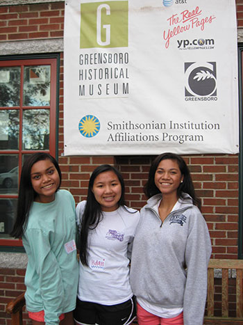 Students of the Montagnard community proudly representing the Smithsonian Museum and Greensboro Historical Center