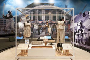The 1960s World Series display at the Senator John Heinz History Center. Photo courtesy of the Center.