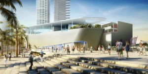 Rendering of the Patricia and Phillip Frost Museum of Science in downtown Miami