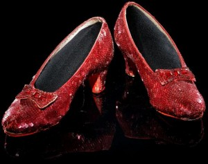 "Dorothy's Ruby Red Slippers from the ""Wizard of Oz.""Credit Smithsonian Institution"