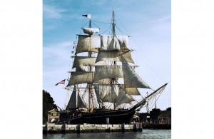 The Charles W. Morgan, shown here at its home, the Mystic Seaport Museum in Connecticut, is the only wooden whaling ship still in existence, and–after a five-year-long restoration–is embarking on a voyage to historic ports of New England. (Courtesy of Mystic Seaport)