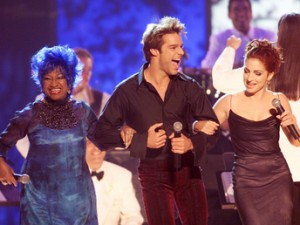 Celia Cruz, Ricky Martin and Gloria Estefan, some of the artists featured in the American Sabor exhibit.
