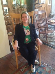 Here I am in a Sam Maloof chair.