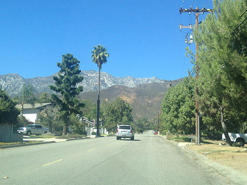 On the road in sunny California!