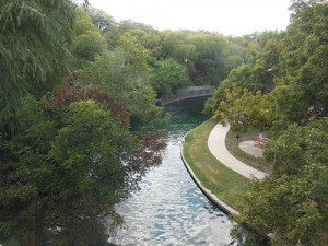 San Antonio River runs by the Witte Museum, creating a 13 mile trail from Breckenridge Park to downtown.