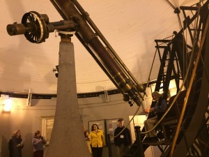 Looking through a 19th century telescope at SAO.