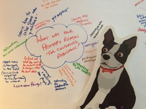 #FindingNEMA - the Boston Terrier mascot for the conference.