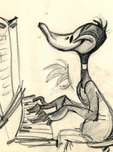 One of Chuck Jones' drawings, soon to be on view in Fort Worth.