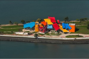 Photograph of newly built Biomuseo biodiversity museum in Panama City, Panama. Photo by: Fernando Aldo, September, 2014.