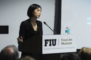 New Hirshhorn Museum and Sculpture Garden Director, Melissa Chiu, at the Frost Art Museum. Photography by Rodrigo Gaya