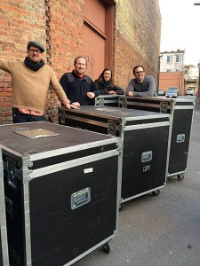 The New Harmonies crates arrive at BCMM. Birthplace of Country Music Museum