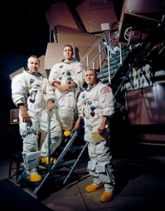 The Apollo 8 crew in November 1968. L to R: James A. Lovell Jr., William A. Anders, and Frank Borman. (Photo: NASA)