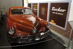 Exhibition of Tucker automobiles at the Antique Automobile Museum in Hershey, PA
