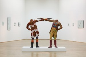 Yinka Shonibare MBE How to Blow Up Two Heads at Once (Gentlemen) 2006 Sindika Dokolo Collection, Luanda Photograph by Axel Schneider ©Museum für Moderne Kunst, Frankfurt
