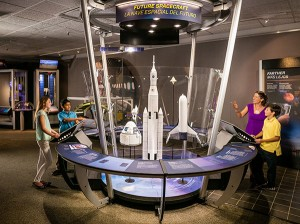 A view of Above and Beyond, the new exhibit at the Saint Louis Science Center. Photo by Oscar Williams.