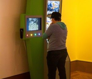 "Visitors at ""The Art of Video Games"" exhibition. Photo courtesy Frost Art Museum."