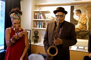 The musicians Terri Davis, left, and Bill Saxton at the opening of the National Jazz Museum in Harlem. Credit Yana Paskova for The New York Times The National Jazz