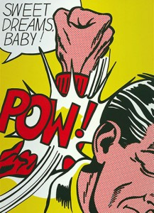 Roy Lichtenstein, Sweet Dreams, Baby!, from the portfolio, 11 Pop Artists, Volume III, 1965, Smithsonian American Art Museum, Gift of Philip Morris Incorporated, copyright Estate of Roy Lichtenstein.