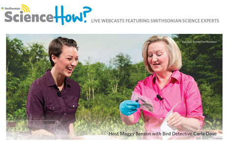 Science How? show host Maggy Benson with Detective Carla Dove