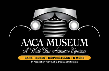 AACA Museum logo with approved tagline In Association with the Smithsonian Institution underneath.