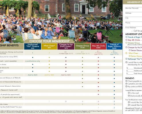 Rhode Island Historical Society membership brochure