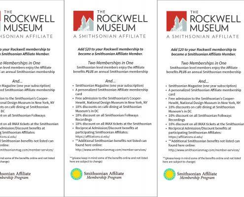 Rockwell Museum membership brochure