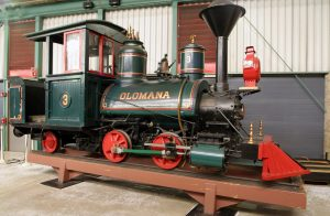The Olomana locomotive, on loan from the National Museum of American History.