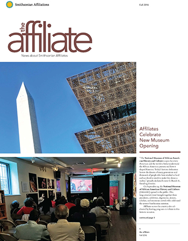 The Affiliate newsletter Fall 2016 edition