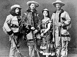 Ned Buntline, Bufalo Bill Cody, Giuseppina Morlacchi, Texas Jack Omohundro (1846-1880) (Wikimedia Commons)