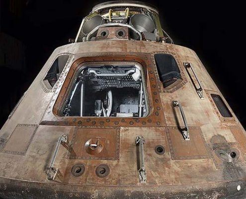 The Apollo 11 command module