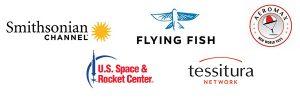 five sponsor logos