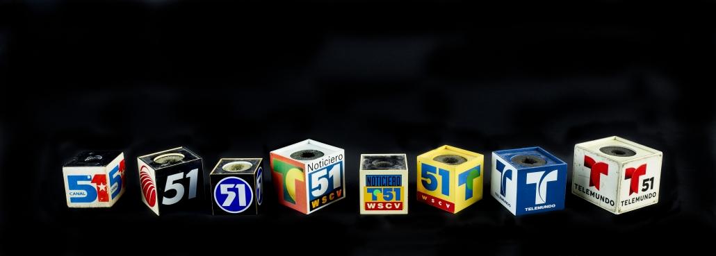 Telemundo Microphone cubes