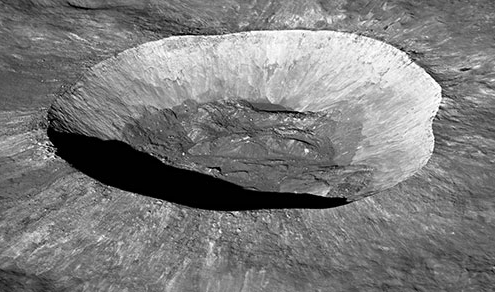 Giordano Bruno crater from an Angle