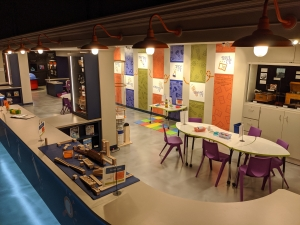 View of the new Spark!Lab maker space for youth at the Springfield Museums in Massachusetts