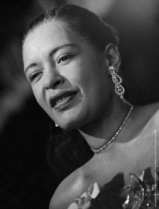 Billie Holiday on stage at Sugar Hill