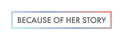 Horizontal Smithsonian American Women's History Initiative Because of Her Story logo