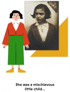 Webpage image showing a graphic of a little girl.