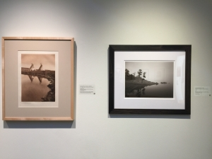 A pairing of two artworks from a traveling exhibition by the Dubuque Museum of Art
