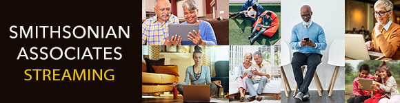 Image of a variety of people watching programs online.
